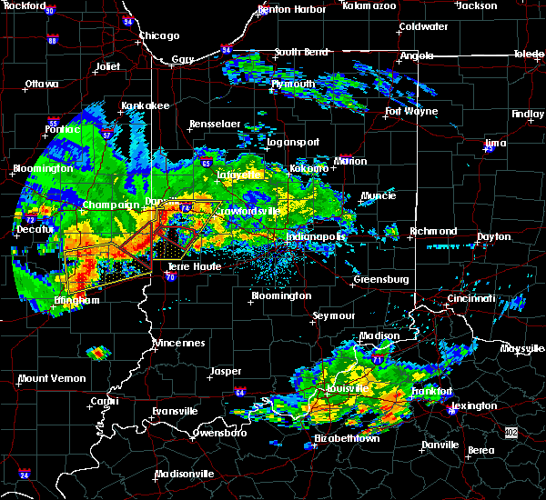 Radar Image for Severe Thunderstorms near Marshall, IN at 6/10/2018 4:14 PM EDT