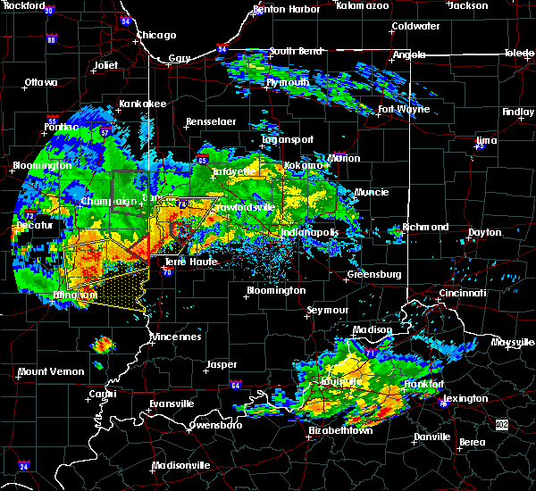 Radar Image for Severe Thunderstorms near Marshall, IN at 6/10/2018 4:23 PM EDT