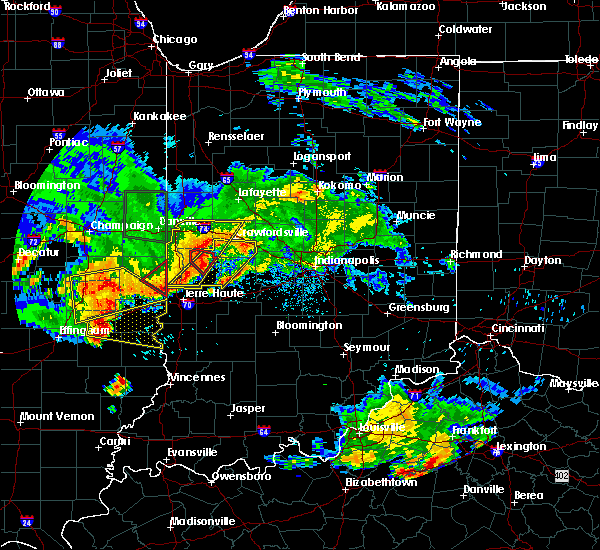 Radar Image for Severe Thunderstorms near New Market, IN at 6/10/2018 4:27 PM EDT
