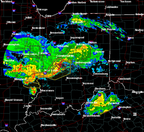 Radar Image for Severe Thunderstorms near Clayton, IN at 6/10/2018 4:59 PM EDT