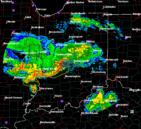 Radar Image for Severe Thunderstorms near Clayton, IN at 6/10/2018 5:06 PM EDT