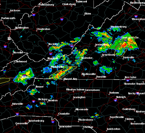 Radar Image for Severe Thunderstorms near Galax, VA at 6/10/2018 5:18 PM EDT
