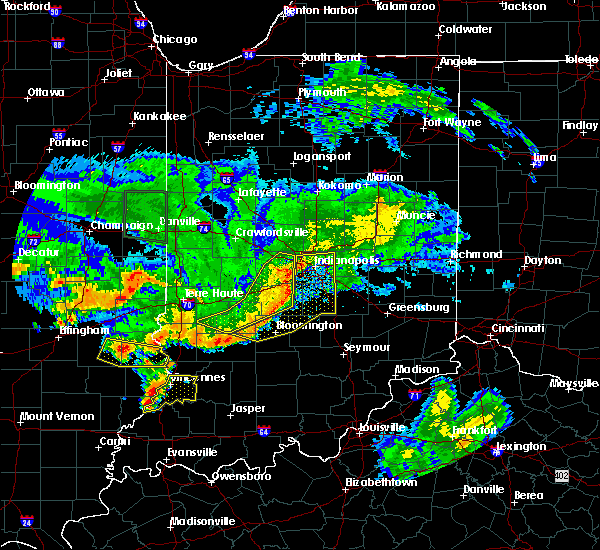Radar Image for Severe Thunderstorms near Indianapolis, IN at 6/10/2018 5:27 PM EDT