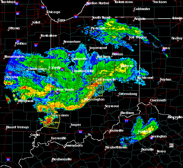 Radar Image for Severe Thunderstorms near Indianapolis, IN at 6/10/2018 5:40 PM EDT