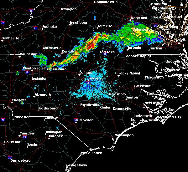 Radar Image for Severe Thunderstorms near South Boston, VA at 6/10/2018 9:07 PM EDT