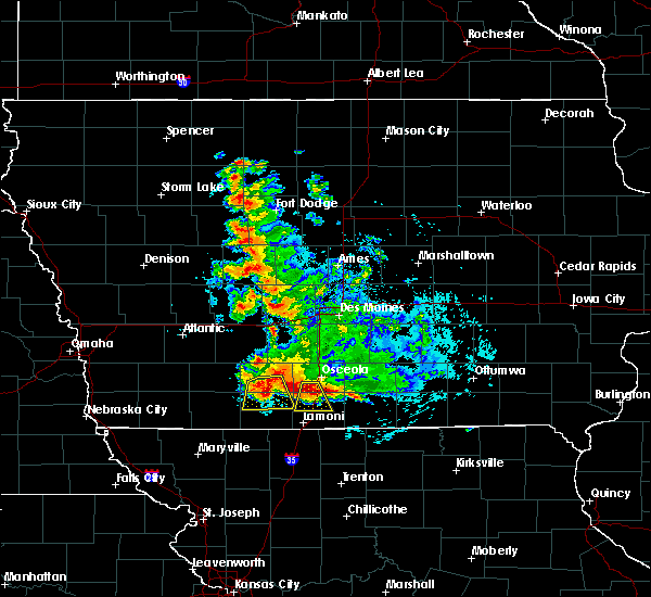 Radar Image for Severe Thunderstorms near Ellston, IA at 6/11/2018 12:33 AM CDT