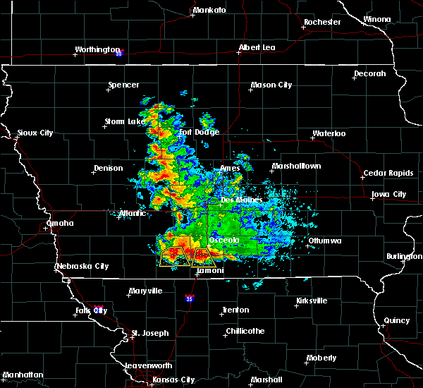 Radar Image for Severe Thunderstorms near Beaconsfield, IA at 6/11/2018 12:41 AM CDT