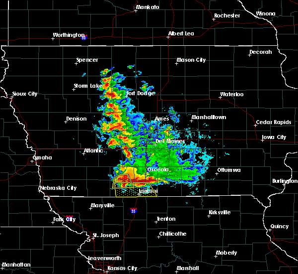 Radar Image for Severe Thunderstorms near Ellston, IA at 6/11/2018 12:49 AM CDT