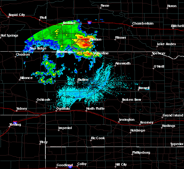 Radar Image for Severe Thunderstorms near St. Francis, SD at 6/11/2018 2:40 AM CDT