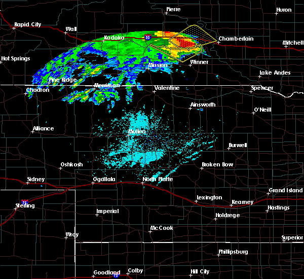 Radar Image for Severe Thunderstorms near Reliance, SD at 6/11/2018 3:44 AM CDT