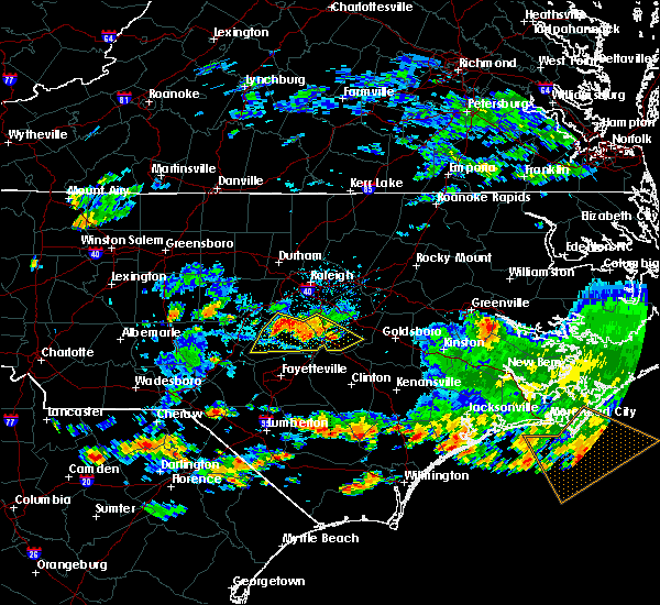 Radar Image for Severe Thunderstorms near Mamers, NC at 6/11/2018 4:49 PM EDT