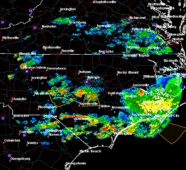 Radar Image for Severe Thunderstorms near Pinehurst, NC at 6/11/2018 5:19 PM EDT