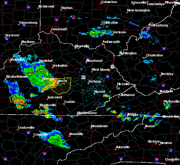 Radar Image for Severe Thunderstorms near McKee, KY at 6/11/2018 5:34 PM EDT