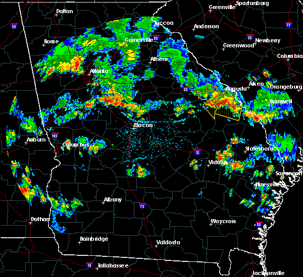Radar Image for Severe Thunderstorms near Thomson, GA at 6/11/2018 6:09 PM EDT