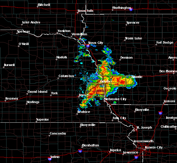 Radar Image for Severe Thunderstorms near Wann, NE at 6/11/2018 6:37 PM CDT