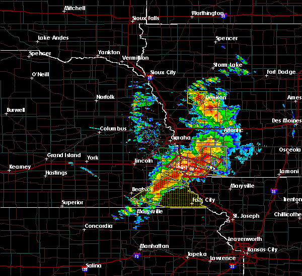 Radar Image for Severe Thunderstorms near Stella, NE at 6/11/2018 7:42 PM CDT