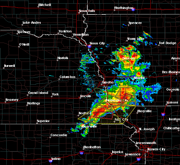 Radar Image for Severe Thunderstorms near Preston, NE at 6/11/2018 7:57 PM CDT