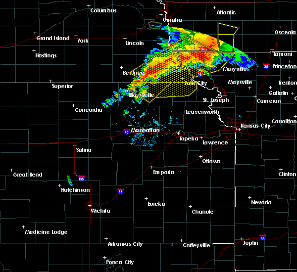 Radar Image for Severe Thunderstorms near Oneida, KS at 6/11/2018 8:19 PM CDT