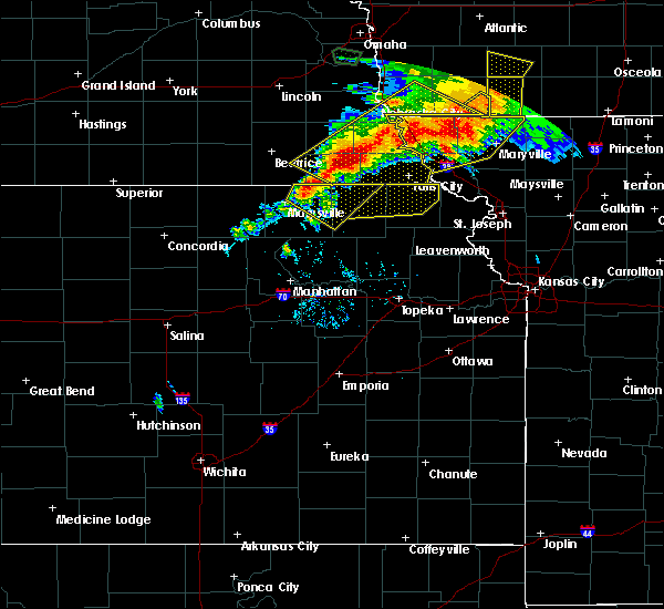 Radar Image for Severe Thunderstorms near Oneida, KS at 6/11/2018 8:22 PM CDT