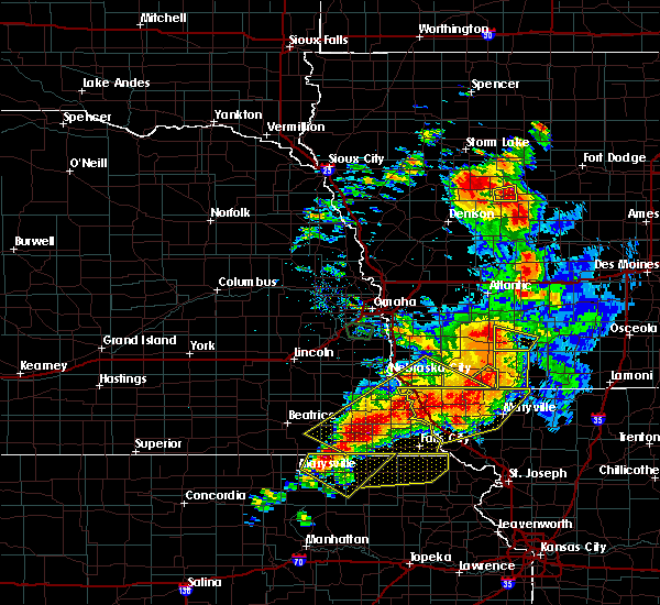 Radar Image for Severe Thunderstorms near Preston, NE at 6/11/2018 8:25 PM CDT