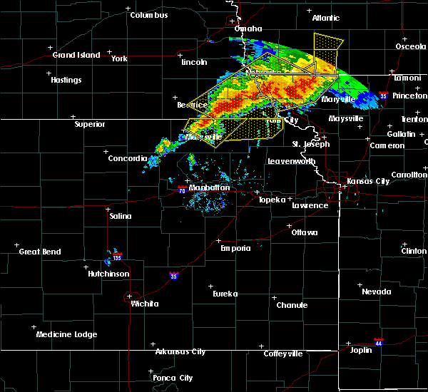 Radar Image for Severe Thunderstorms near Oneida, KS at 6/11/2018 8:31 PM CDT