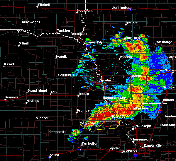 Radar Image for Severe Thunderstorms near Preston, NE at 6/11/2018 8:44 PM CDT