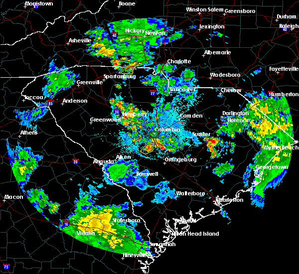 Radar Image for Severe Thunderstorms near Swansea, SC at 6/11/2018 9:50 PM EDT