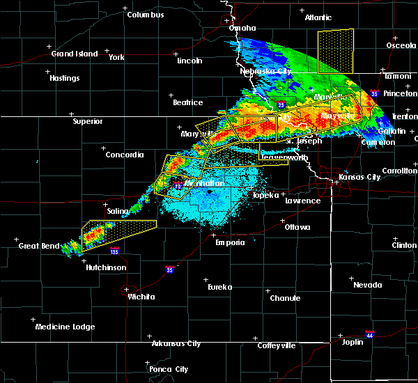 Radar Image for Severe Thunderstorms near Corning, KS at 6/11/2018 9:46 PM CDT