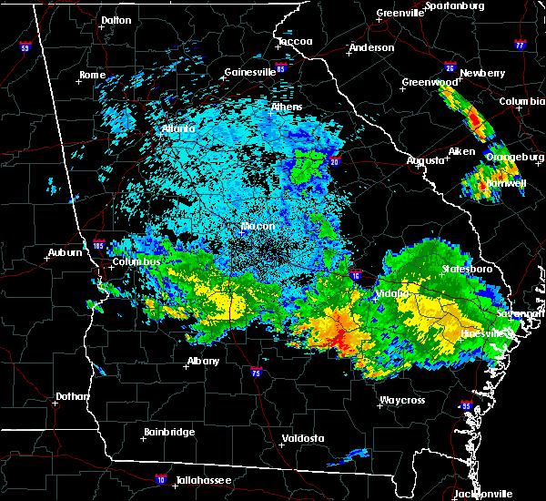 Radar Image for Severe Thunderstorms near Lumber City, GA at 6/11/2018 11:16 PM EDT