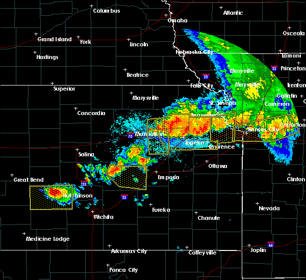 Radar Image for Severe Thunderstorms near Hoyt, KS at 6/11/2018 11:20 PM CDT