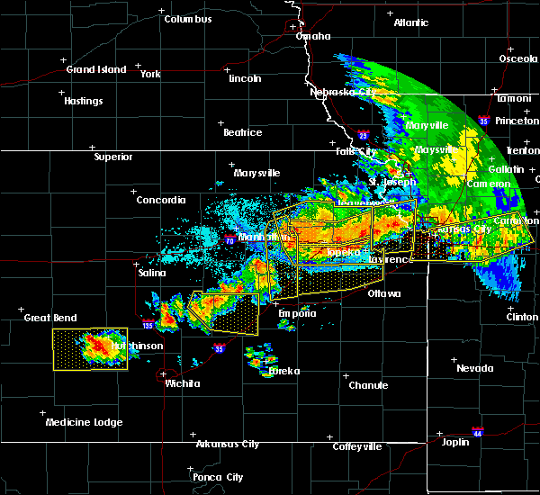 Radar Image for Severe Thunderstorms near Hoyt, KS at 6/11/2018 11:44 PM CDT