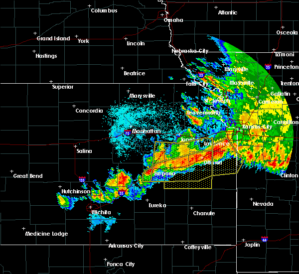 Radar Image for Severe Thunderstorms near Harris, KS at 6/12/2018 12:51 AM CDT