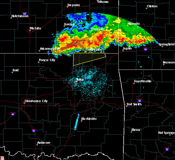 Radar Image for Severe Thunderstorms near Delaware, OK at 6/12/2018 3:44 AM CDT