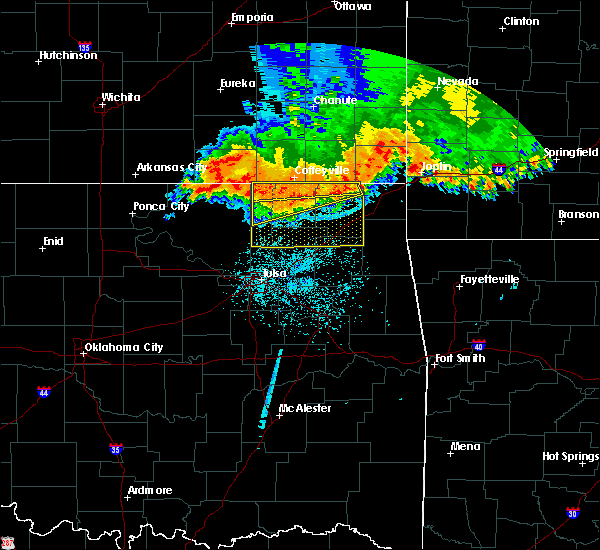 Radar Image for Severe Thunderstorms near Bushyhead, OK at 6/12/2018 4:24 AM CDT