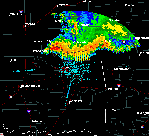 Radar Image for Severe Thunderstorms near Bushyhead, OK at 6/12/2018 4:44 AM CDT