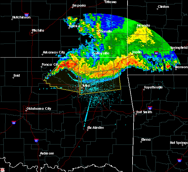 Radar Image for Severe Thunderstorms near Prue, OK at 6/12/2018 5:09 AM CDT