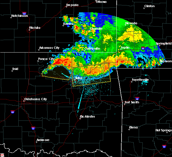 Radar Image for Severe Thunderstorms near Wynona, OK at 6/12/2018 5:27 AM CDT