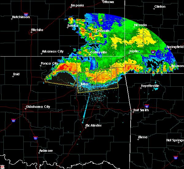 Radar Image for Severe Thunderstorms near Iron Post, OK at 6/12/2018 5:29 AM CDT