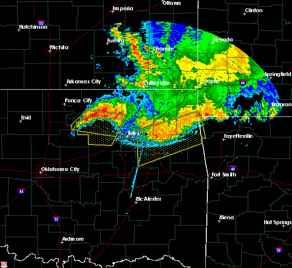 Radar Image for Severe Thunderstorms near Prue, OK at 6/12/2018 5:45 AM CDT