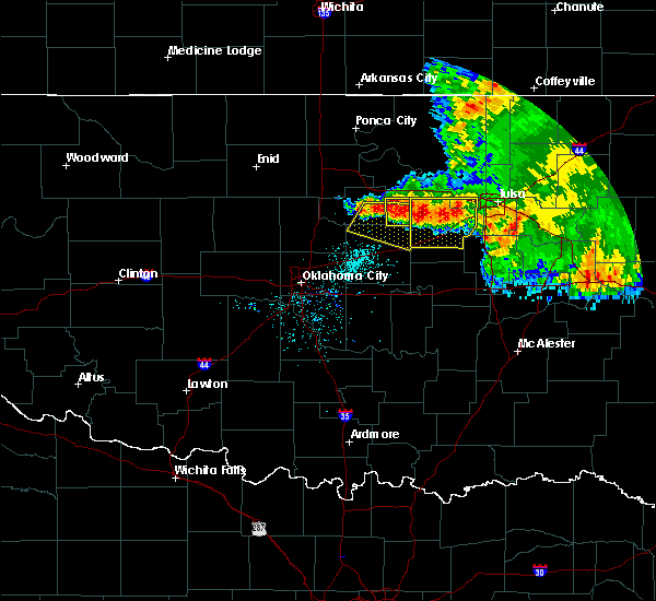 Radar Image for Severe Thunderstorms near Yale, OK at 6/12/2018 7:06 AM CDT