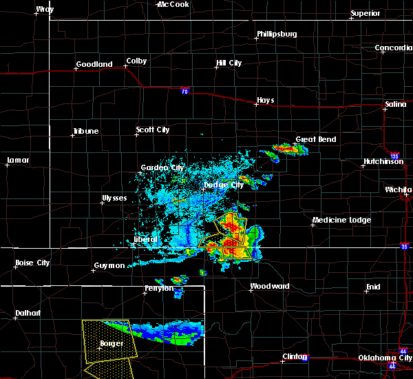 Radar Image for Severe Thunderstorms near Protection, KS at 6/12/2018 6:25 PM CDT