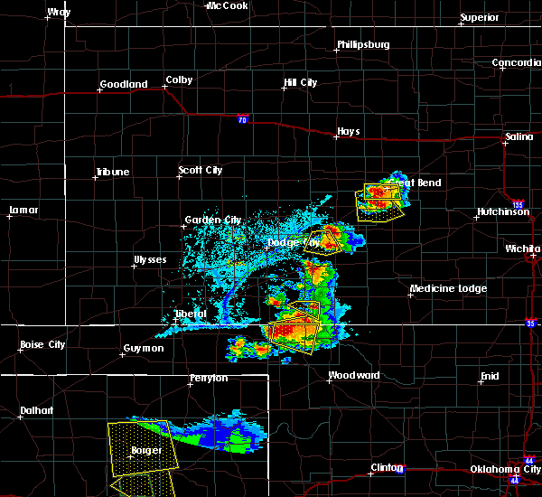 Radar Image for Severe Thunderstorms near Protection, KS at 6/12/2018 6:58 PM CDT