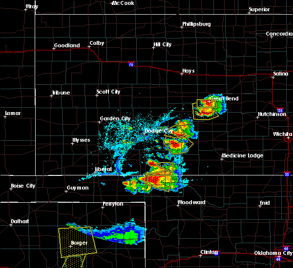 Radar Image for Severe Thunderstorms near Kinsley, KS at 6/12/2018 7:08 PM CDT