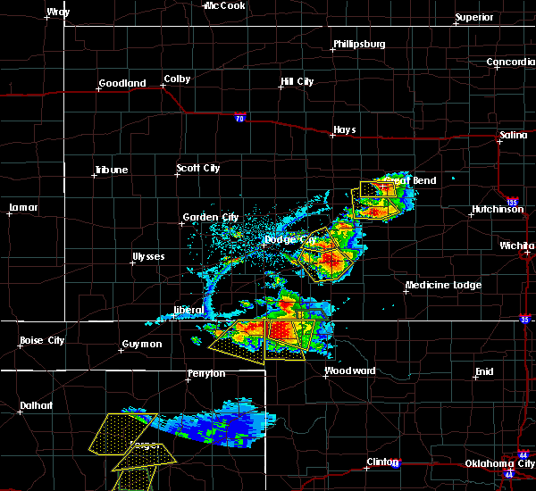 Radar Image for Severe Thunderstorms near Byers, KS at 6/12/2018 7:23 PM CDT