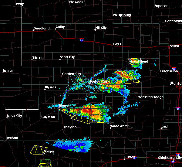 Radar Image for Severe Thunderstorms near Byers, KS at 6/12/2018 7:51 PM CDT