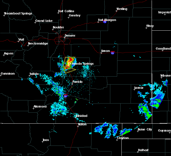 Radar Image for Severe Thunderstorms near Security-Widefield, CO at 6/13/2018 12:45 AM MDT