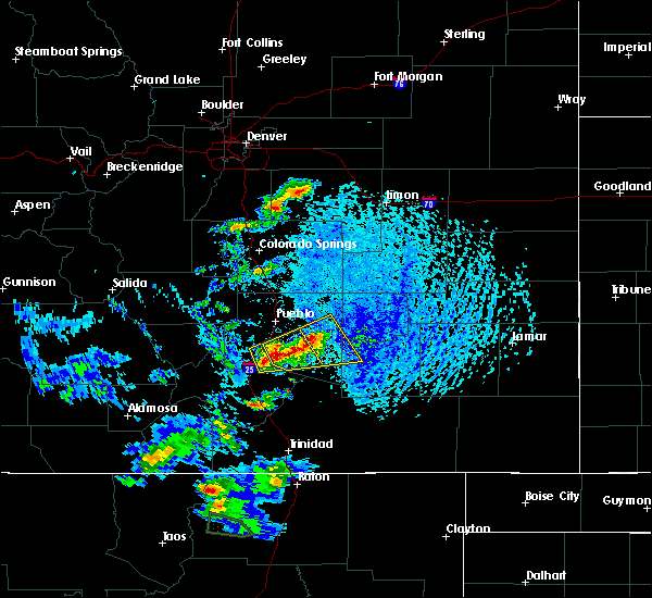 Radar Image for Severe Thunderstorms near Fowler, CO at 6/13/2018 2:58 PM MDT