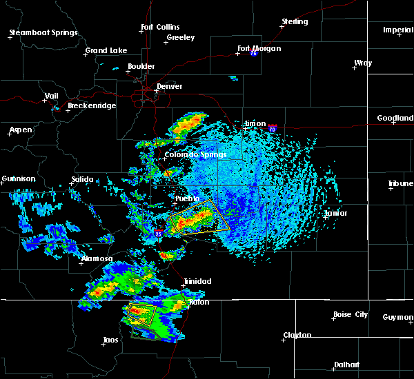 Radar Image for Severe Thunderstorms near Fowler, CO at 6/13/2018 3:10 PM MDT