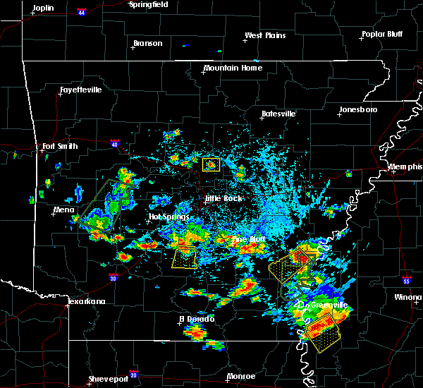 Radar Image for Severe Thunderstorms near Watson, AR at 6/13/2018 4:34 PM CDT