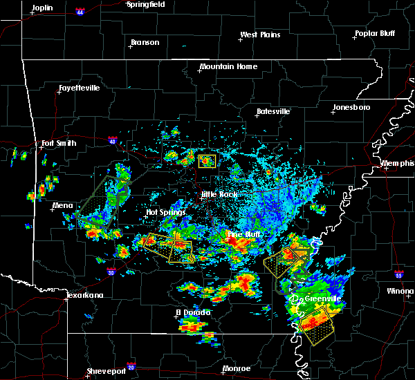 Radar Image for Severe Thunderstorms near Watson, AR at 6/13/2018 4:47 PM CDT